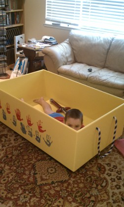 giant toy box on wheels
