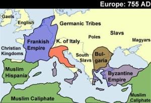 Europe 755 A.D.