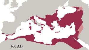 Roman Empire 600 A.D.