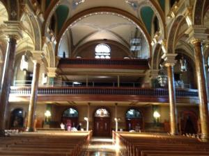 St John Cantius Chicago back of Church from nave