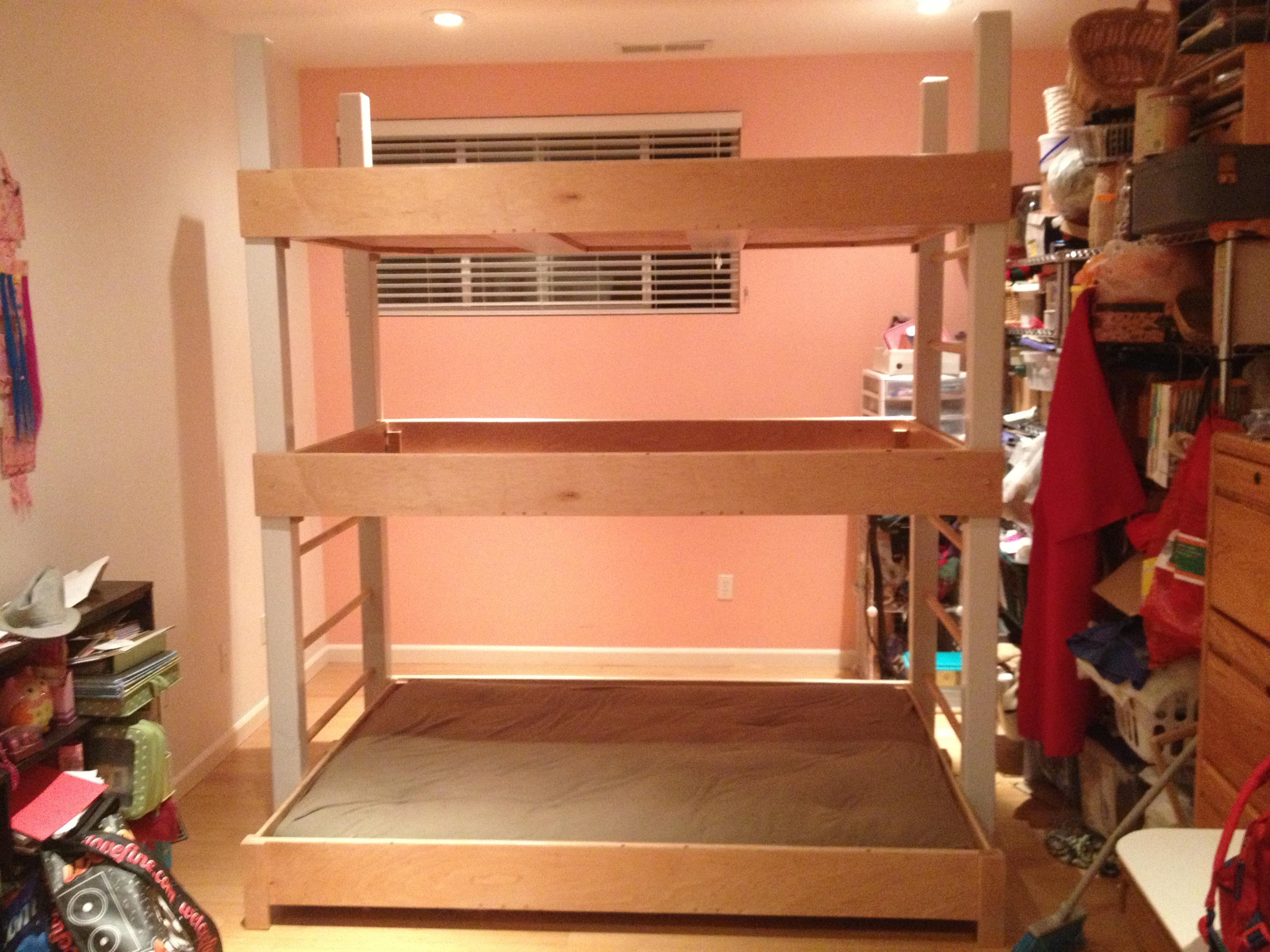 Triple Decker Bunk Beds Trendy Full Size Of Triple Bunk