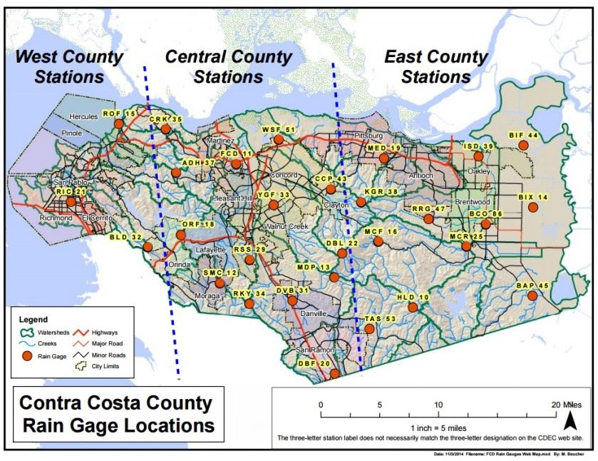 Rain Gage Map