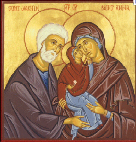 Sts Joahachim and Anne Icon
