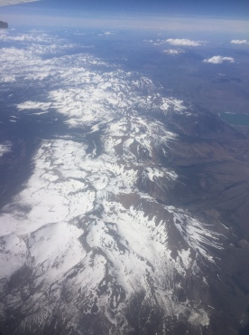 Southern Sierra, looking north from roughly over Yosemite.