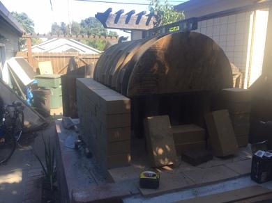 The frame for the barrel vault