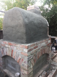 Pizza oven, rear