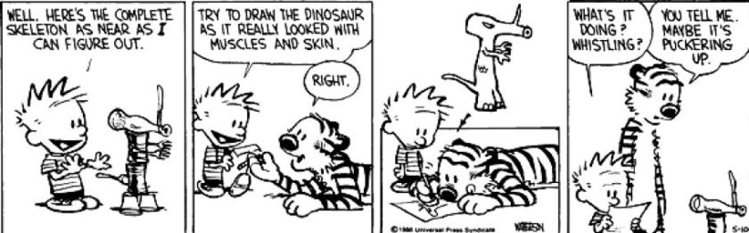 Image result for calvin and hobbes dinosaur